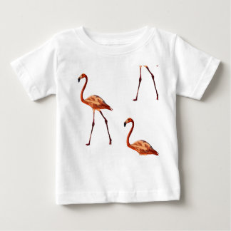Pink Flamingos Baby Fine Jersey T-Shirt