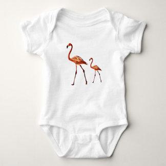 Pink Flamingos Baby Jersey Bodysuit