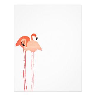 Pink Flamingos Beach Wedding Flyer