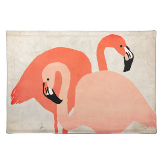 Pink Flamingos Beach Wedding Place Mats