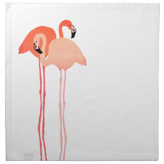 Pink Flamingos Beach Wedding Printed Napkin