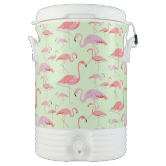 Pink Flamingos Beverage Cooler