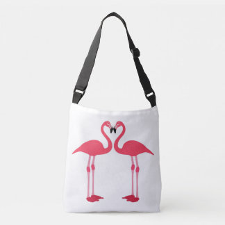 Pink Flamingos Cross Over Bag