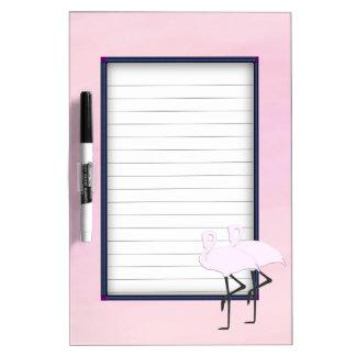 Pink Flamingos Dry Erase Board
