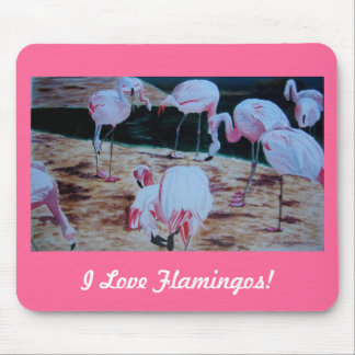 Pink Flamingos Fine Art I Love Flamingos Mouse Pad