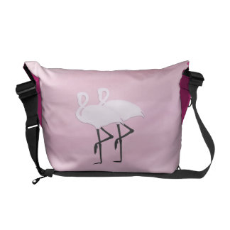 Pink Flamingos Messenger Bags