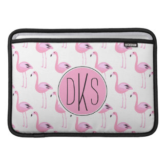 Pink Flamingos | Monogram Sleeves For MacBook Air
