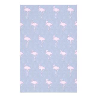Pink flamingos pattern custom stationery