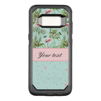 Pink Flamingos Polka Dots OtterBox Commuter Samsung Galaxy S8 Case