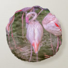 Pink Flamingos Round Cushion