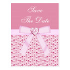 Pink Flamingos Save The Date Wedding Postcard