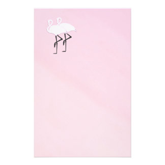 Pink Flamingos Stationery