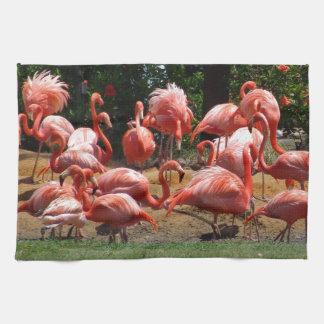 Pink Flamingos Tea Towel