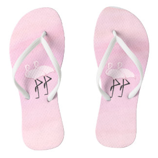 Pink Flamingos Thongs