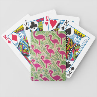Pink Flamingos Tropical Pattern Bicycle Playing Cards