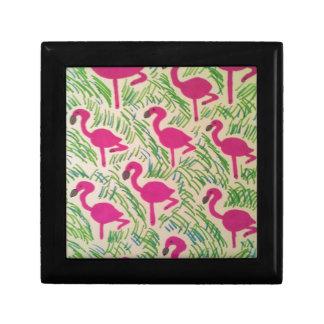 Pink Flamingos Tropical Pattern Gift Box