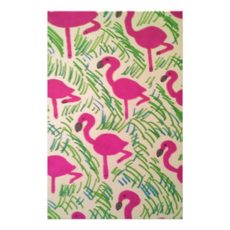 Pink Flamingos Tropical Pattern Stationery