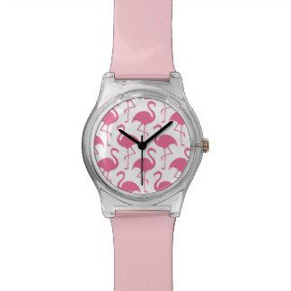 Pink Flamingos Wristwatch