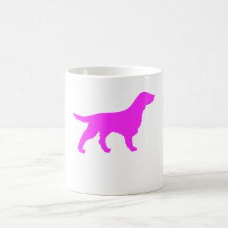 Pink Flat Coated Retriever Silhouette Coffee Mug