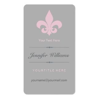 Pink Fleur de Lis Business Card