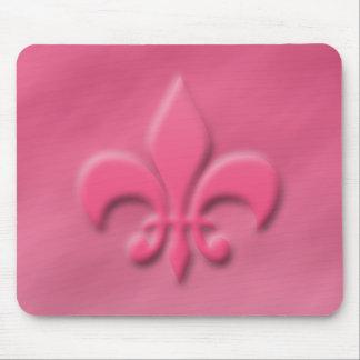 Pink Fleur-de-lis Mouse Pad