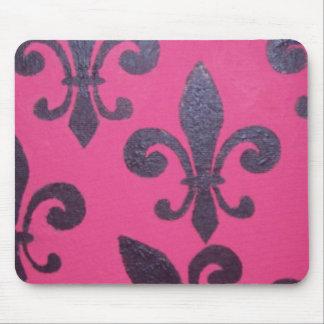 Pink Fleur De Lis Mouse Pad