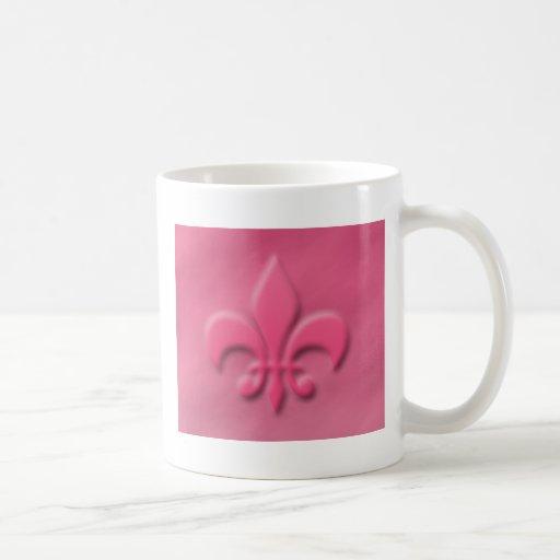 Pink Fleur-de-lis Coffee Mug