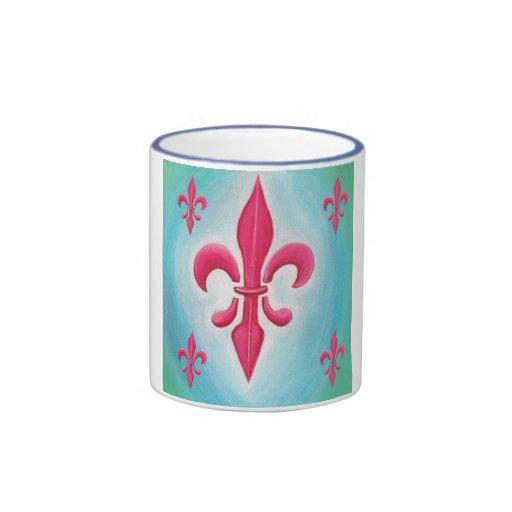 Pink Fleur-de-lis Mug