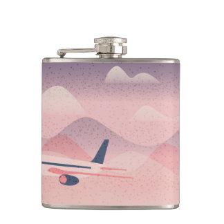 Pink Flight Hip Flask