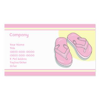 Pink Flip Flops Business Cards