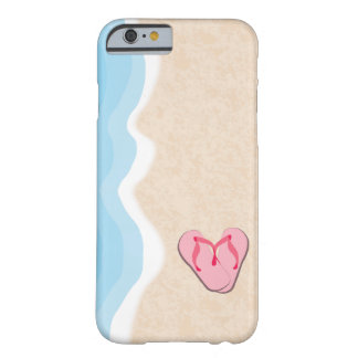 Pink Flip Flops on the Beach Barely There iPhone 6 Case