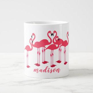 Pink Flock Of Flamingos Themed Cup/ Large Coffee Mug