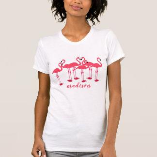 Pink Flock Of Flamingos Themed T-Shirt