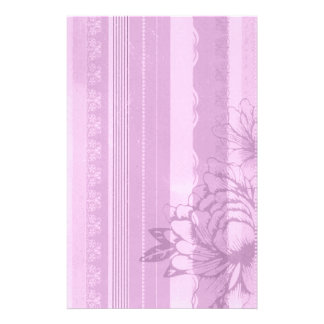Pink Flora Customized Stationery