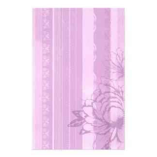 Pink Flora Stationery Design
