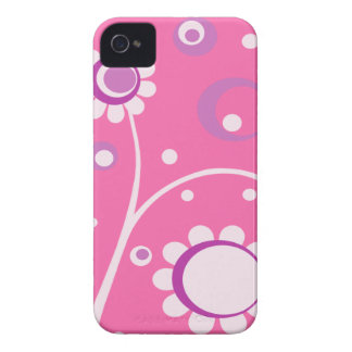 Pink Floral Abstract BlackBerry Barely There Case Blackberry Case