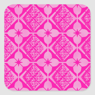 Pink Floral Argyle Tone on Tone Pattern Stickers