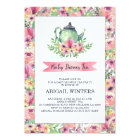 Pink Floral Baby Shower Tea Party Invitation