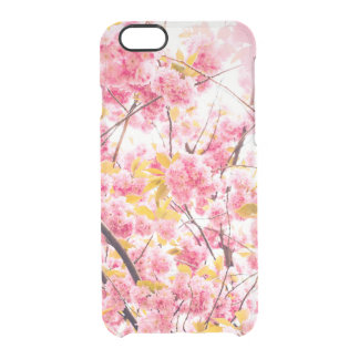 Pink Floral Blossoms Clear iPhone 6/6S Case