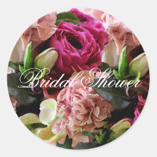 Pink Floral Bouquet Envelope Sticker
