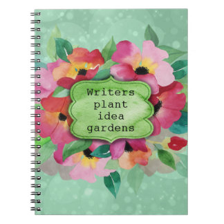 Pink Floral Bouquet | Writers Plant Idea Gardens Notebook