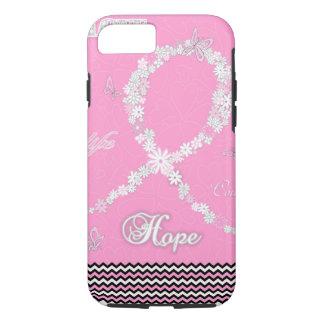 Pink Floral Breast Cancer Awareness Ribbon iPhone7 iPhone 8/7 Case