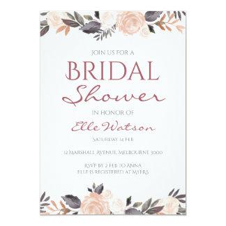 Pink Floral Bridal Shower Invitation, Wedding Card