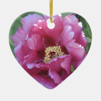 pink floral ceramic heart decoration