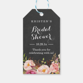 Pink Floral Chalkboard | Bridal Shower Thank You