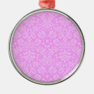 Pink Floral Damask Ornament