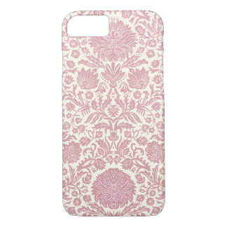 Pink Floral Damask Pattern iPhone 7 Case