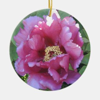 pink floral christmas ornaments