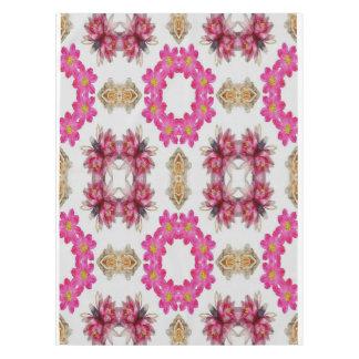 Pink Floral Decorative Design Tablecloth