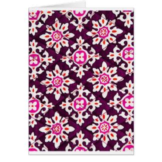 Pink Floral Design Art Glow Gradient Digital Art L Greeting Card